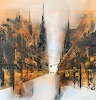 Nicole Glück, you never walk alone, Abstract art, Architecture, Abstract Art