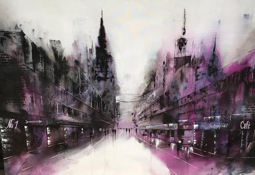 Nicole Glück, Cityscape: Café No.1, Abstract art, Abstract art, Abstract Art, Abstract Expressionism