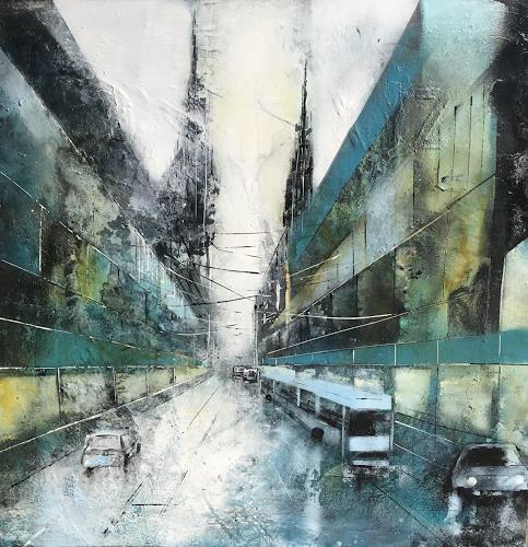 Nicole Glück, ON THE ROAD, Abstract art, Abstract art, Abstract Art, Abstract Expressionism