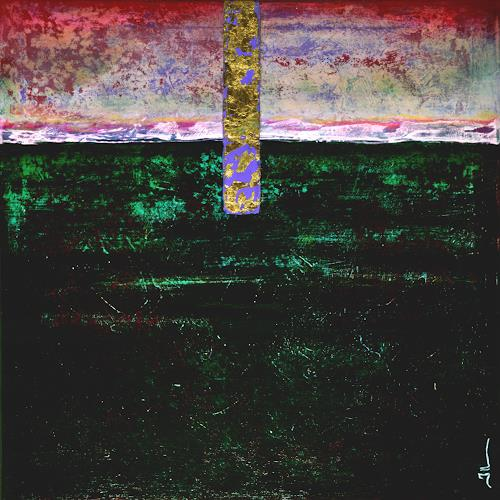 Jean-Luc LACROIX, At Dawn - 50x50cm, Abstract art, Nature: Earth, Abstract Art