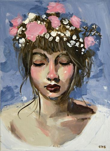 Andreas Zeug, Luisa, People: Faces, Expressive Realism, Expressionism