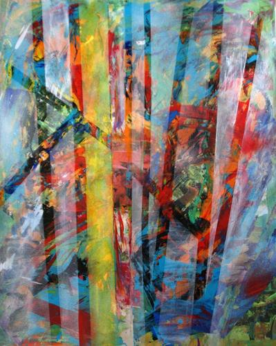 Sibylle Frucht, Forest, Landscapes: Tropics, Fantasy, Abstract Expressionism