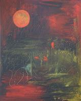 Sibylle-Frucht-Mythology-Nature-Wood-Modern-Age-Expressionism-Abstract-Expressionism