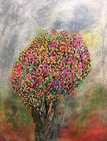 Sibylle-Frucht-Plants-Trees-Landscapes-Spring-Modern-Age-Expressionism-Abstract-Expressionism