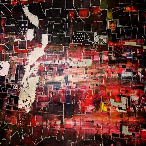 Sibylle Frucht, Downtown, Abstract art, Fantasy, Contemporary Art