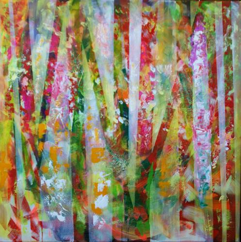 Sibylle Frucht, Forest, Abstract art, Nature: Wood, Abstract Expressionism