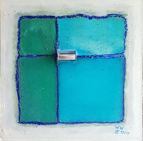 WWSt, Eisblau, Abstract art, Colour Field Painting, Expressionism