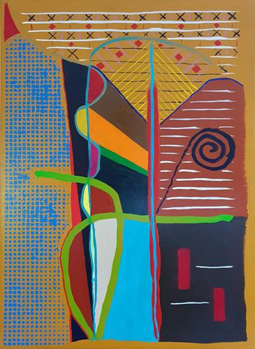 WWSt, Komposition mit Linien, Abstract art, Abstract Art