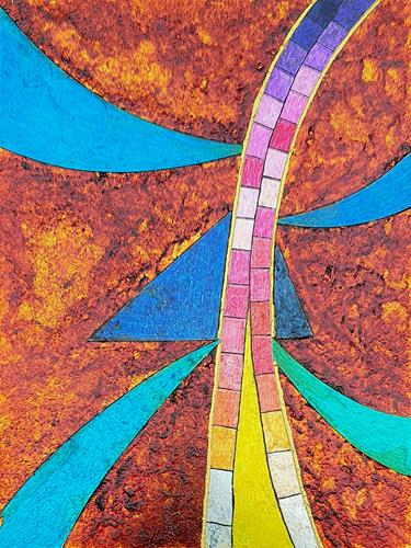 WWSt, Komposition mit Glasscherben 2, Abstract art, Colour Field Painting