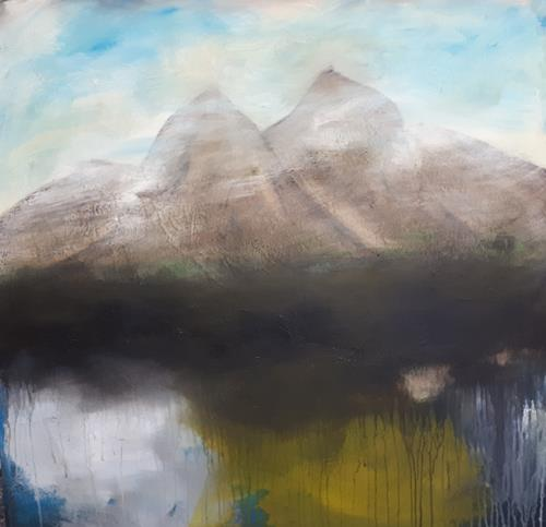 Ludwig Baumeister, Die Alpen, Landscapes, Abstract Art