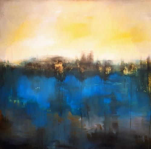 Ludwig Baumeister, Spiegelung, Landscapes, Abstract Art, Expressionism