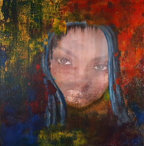 Ludwig Baumeister, Nachdenklich, People: Women, Abstract Art