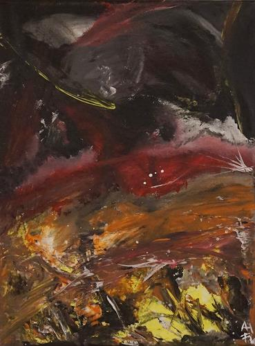 Fabian Langer, Mountains Cold, Landscapes: Mountains, Abstract art, Abstract Expressionism