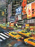 Claudia-Beck-Buildings-Skyscrapers-Traffic-Car-Modern-Age-Abstract-Art