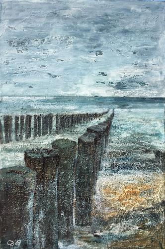 Claudia Beck, Domburg, Landscapes: Sea/Ocean, Expressive Realism, Expressionism