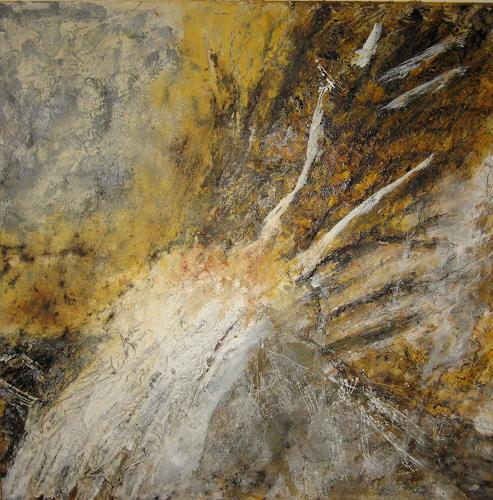 Marion Schmidt, Spuren im Fels, Abstract art, Abstract art, Action Painting