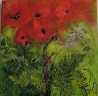 Marion-Schmidt-Plants-Flowers-Abstract-art-Modern-Age-Abstract-Art-Action-Painting