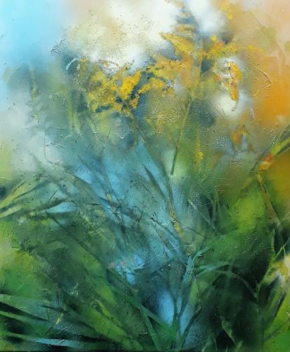 Marion Schmidt, Wiesenstück, Plants: Flowers, Abstract art, Abstract Art