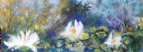 Marion Schmidt, Waterlilies (2), Landscapes: Sea/Ocean, Plants: Flowers, Abstract Art