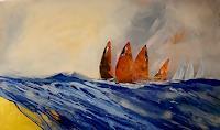 Margret-Obernauer-Landscapes-Sea-Ocean-Landscapes-Summer-Modern-Age-Expressionism