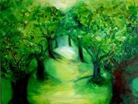 Margret-Obernauer-Plants-Trees-Landscapes-Summer-Contemporary-Art-Contemporary-Art