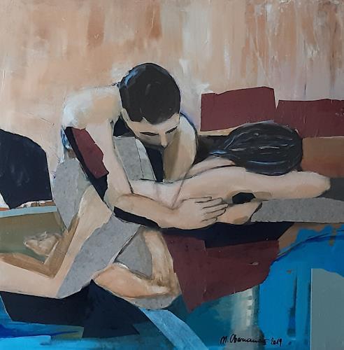 Margret Obernauer, Vertrauen, People, Nude/Erotic motifs, New Figurative Art, Expressionism