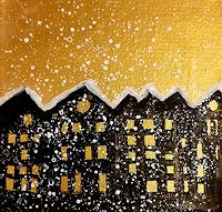 Margret-Obernauer-Buildings-Landscapes-Winter-Modern-Age-Primitive-Art-Naive-Art