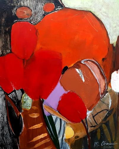 Margret Obernauer, Garden, Nature, Still life, Contemporary Art, Abstract Expressionism
