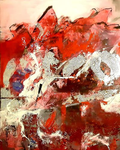 Margret Obernauer, Einohr Hase, Abstract art, Emotions, Abstract Art, Abstract Expressionism