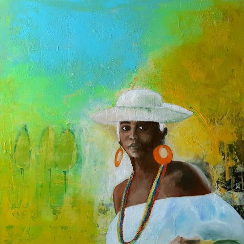 Margret Obernauer, Südafrika, People: Women, Landscapes: Plains, Expressionism