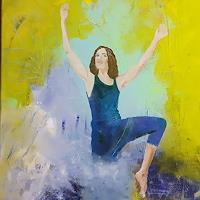 Margret-Obernauer-People-Women-Emotions-Joy-Modern-Age-Expressionism