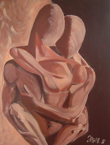 Sissi Brunner-Schützelhofer, Lovers, People: Couples, Abstract Art, Expressionism