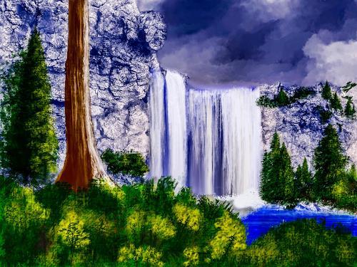 Keep Magic, Wasserfall, Landscapes: Mountains, Nature: Rock, Land-Art