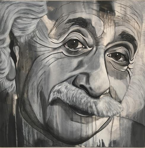 Madeleine Schertenleib, Einstein, People: Portraits, Expressive Realism, Expressionism