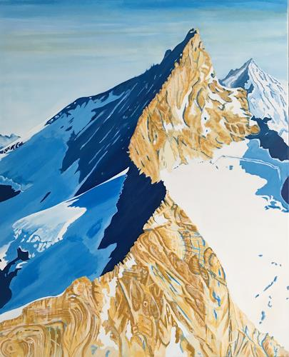 Madeleine Schertenleib, Bergwelt, Landscapes: Mountains, Abstract Art, Expressionism