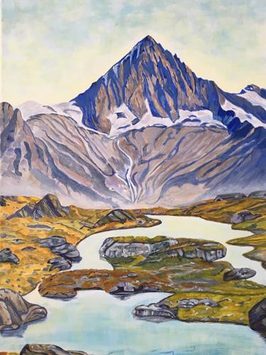 Madeleine Schertenleib, Berge, Landscapes: Mountains, Expressive Realism
