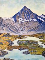 Madeleine-Schertenleib-Landscapes-Mountains-Modern-Age-Expressive-Realism