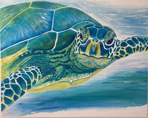 Madeleine Schertenleib, Meeresschildkröte, Animals: Water, Expressive Realism