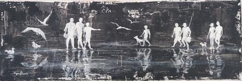 Nora Block, Möweninsel, People, Animals: Water, Contemporary Art
