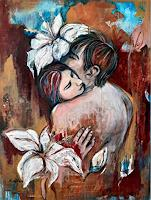 Nora-Block-People-Couples-Nude-Erotic-motifs-Modern-Age-Expressive-Realism