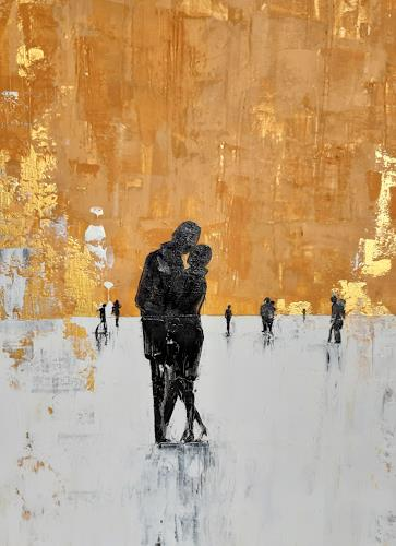 Nora Block, Rendezvous, People: Couples, Emotions, Modern Age, Expressionism