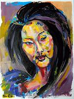 Nora-Block-People-Women-People-Portraits-Modern-Age-Abstract-Art