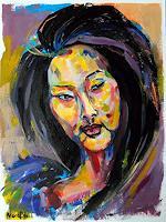 Nora-Block-People-Women-People-Portraits-Modern-Age-Abstract-Art