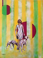 N. Block, Lady with dogs