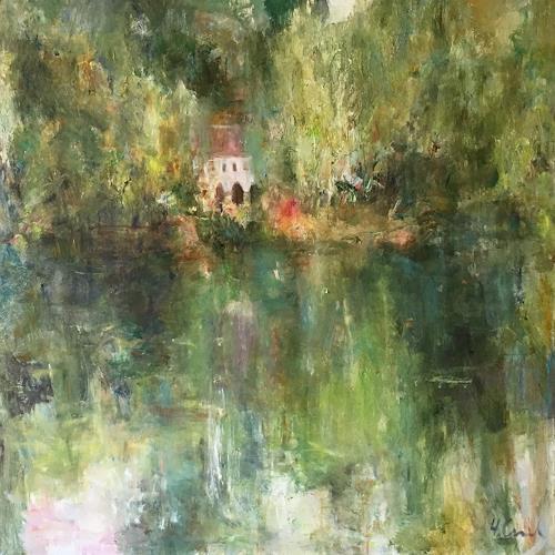 Natalia Simonenko, Abbaye, Landscapes: Summer, Nature: Miscellaneous, Neo-Impressionism, Expressionism
