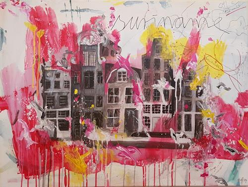 Anett Hoffmann, They worked hard for the coffee- Amsterdam, Architecture, History, Contemporary Art, Abstract Expressionism