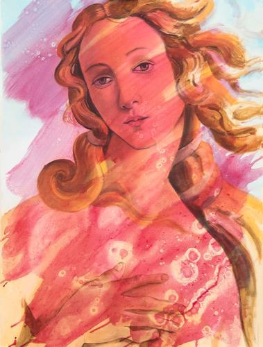 JoAchim Nowak, Geburt der Venus n. S. Botticelli, People: Portraits, Pop-Art, Expressionism