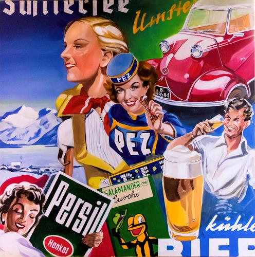 JoAchim Nowak, Sehnsucht heile Welt-12, People: Faces, Times: In The Past, Pop-Art