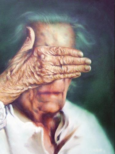 Geert Bordich, Grande Maman (Louise Bourgeoise), People: Portraits, Realism, Abstract Expressionism