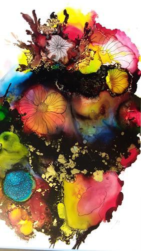 Jutta Mahnke, o.T., Fantasy, Abstract Art, Expressionism